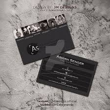 Fashion Photography Business Cards Ashish Senger Photography Visiting Card By Jmdesigns India On