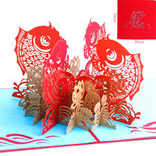 happy chinese new year postcards with envelope laser cut the multi