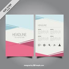 brochure templates ai free abstract brochure template vector free