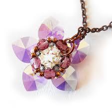 swarovski crystal flower necklace images Water lily flower necklace with lilac swarovski crystal beads shop jpg