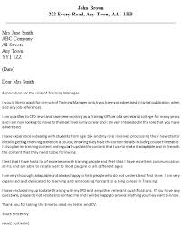 training manager cover letter example u2013 cover letters and cv examples