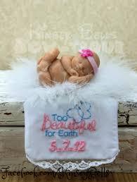 baby memorial ornament keepsake and personalized blanket