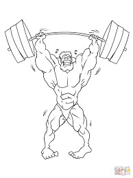 strong weightlifter coloring page free printable coloring pages