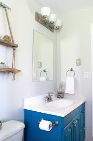 beach themed bathroom final reveal one room challenge spring love this teal pop colour gorgeous small beach theme bathroom remodel