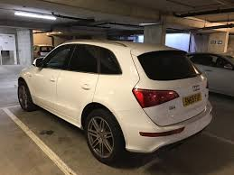 white wrapped cars audi q5 2009 s line suv 4x4 quattro wrapped in white original