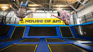 Trampoline Hanging Bed by Adrenaline Park Trampoline Park Birthday Parties San Francisco