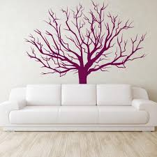 winter tree wall stickers large tree vinyl wall decal