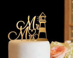 lighthouse cake topper lighthouse wedding etsy