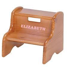 Step Stool For Kids Bathroom - personalized wood step stool honey oak stain potty training