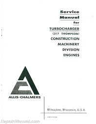 allis chalmers hd 7g diesel crawler loader service manual