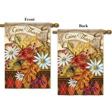 thanksgiving house flags call us 800 340 1157 give thanks leaves 2 sided thanksgiving house