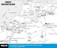 Blue Ridge Mountains Map Printable Travel Maps Of North Carolina Moon Travel Guides