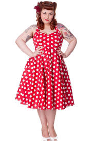 hell halter plus size rockabilly red and white polka dot bunny