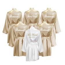 personalized bridesmaid gifts 6 bridal robes bridesmaid gifts set of 6 robes
