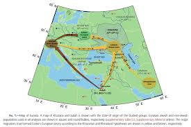 Middle East And Europe Map by General Patterns Of Jewish Migration In Europe And The Middle East