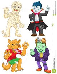 kids halloween cartoon funny cartoon halloween set royalty free stock images image