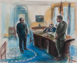 these authentic courtroom sketches of the watergate trials capture