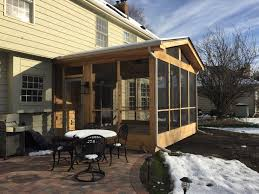 archadeck u0027s cedar screened porch in lake zurich il