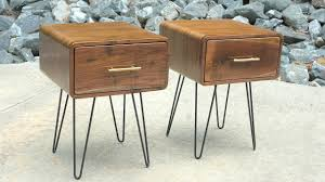 How To Build Wood End Tables by Mid Century Modern Walnut End Table How To Build Woodworking