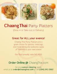 thanksgiving food order online chaang thai morgantown wv