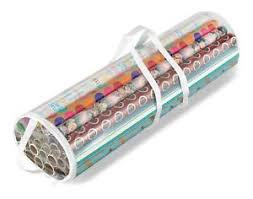 christmas wrap storage clear gift wrap organizer container storage bag christmas