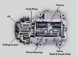 dh55 r134a 12v 24v lb e5041 air compressor assy energy saving ac