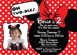 Sample 1st Birthday Invitation Card Awesome Minnie Mouse Birthday Invitation Cards 23 With Additional