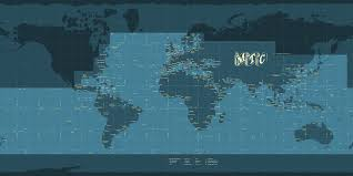 World Map With Coordinates by El Oriente Maps With Sea Names And Coordinate Grid 2012 Mapshack