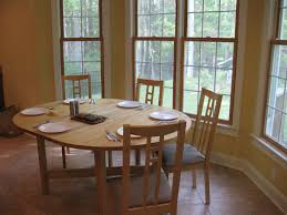 simple contemporary home dining room bay window furnishing ideas