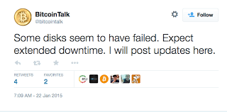 bitcoin forum bitcoin forum bitcointalk is down due to disk failure data lost