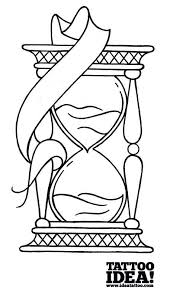 draw a traditional style hourglass ideatattoo