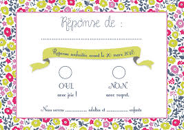 rã ponse invitation mariage réponse invitation mariage papeterie mariage