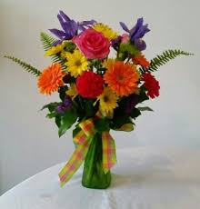 crazy for color fresh flower arrangement in youngstown oh