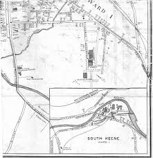 Pierce College Map Map Of Keene By Samuel Wadsworth 1917 Keene Public Library