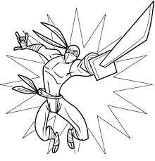 ninja coloring pages katana coloringstar