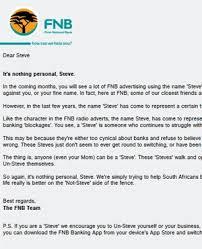 fnb u0027s steve ad under fire fin24