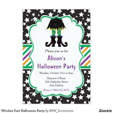 Invitation Party Card Witches Feet Halloween Party Card Halloween Invitations Pinterest