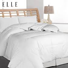Duck And Down Duvets Elle Microfiber Pinstripe White Down Comforter Free Shipping