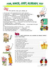 407 free esl present perfect tenses worksheets
