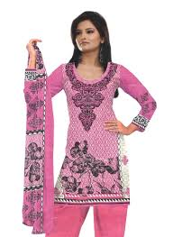 buy bluelilys printed cotton salwar in pink and magenta color