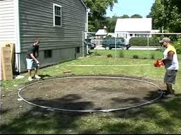 Cost Of Putting A Pool In Your Backyard by Do It Yourself Round Above Ground Swimming Pool Installation 1