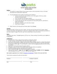 100 camp counselor duties city editor cover letter art manager