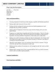 template for resume sle resume of cook fresh kitchen helper jobscription pdf