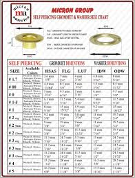 Standard Curtain Sizes Chart by Self Piercing Grommet Size Chart Grommet Mart