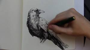 the raven edgar allan poe reading and sketch youtube