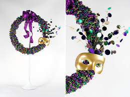 mardi gras bead wreath beaded mardi gras wreath scc mag
