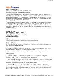 high resume exles skills basic resume exles skills free resume templates