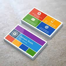 personalized flat metro style modern creative business cards