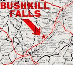 Pennsylvania On A Map by Papergreat Bushkill Falls