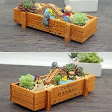 Rectangular Succulent Planter by Online Get Cheap Succulent Pot Wood Aliexpress Com Alibaba Group